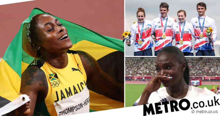 Tokyo 2020 Day Eight Highlights: Jamaica sweep record-breaking 100m final, Team GB strike relay gold