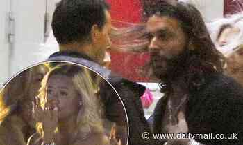 Pete Wicks engages in heated chat with male reveller as tearful blonde watches during boozy night