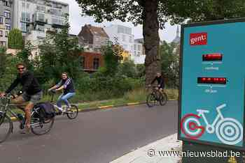 Aantal fietsers in Gent nog beter geteld dankzij twee nieuwe 'fietstelpalen' - Het Nieuwsblad