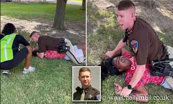 White Texas cop lays on top of 'suicidal' black girl, 18, who screams 'I can't breathe'