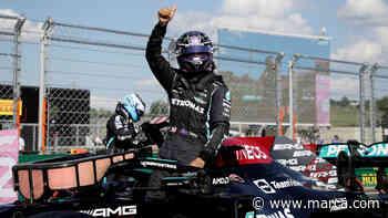 Mercedes y Hamilton ganan otro round y se quedan con la pole; Verstappen largará tercero y Checo en cuarto - Marca Claro México