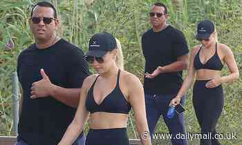 Alex Rodriguez spotted with his rumored new girlfriend Melanie Collins as they stroll  in Ibiza