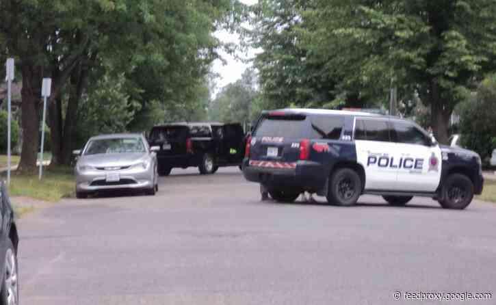 Thunder Bay Police Tactical Unit on Norah Street