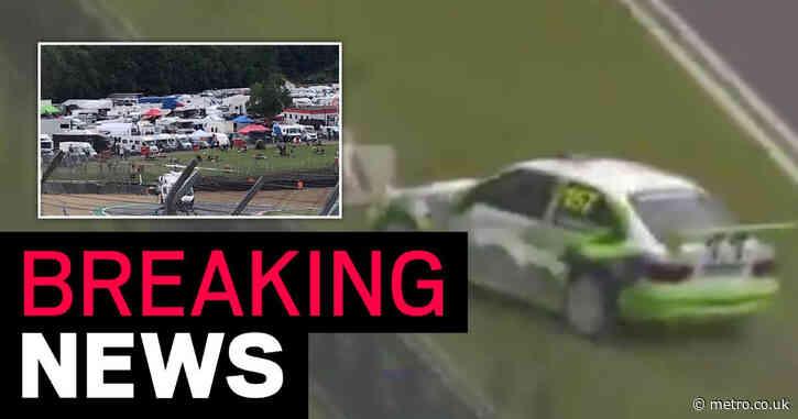 Volunteer marshal dies after car flips off circuit at Brands Hatch