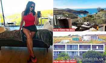 Behind Carol Vorderman's £350,000 property is an ugly construction site