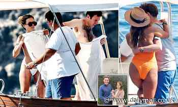 Jack Brooksbank pictured in Capri with glamorous women as Princess Eugenie stays at home