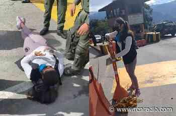 Denuncian agresión de la Policía en protesta por peaje de Los Santos, Santander - RCN Radio