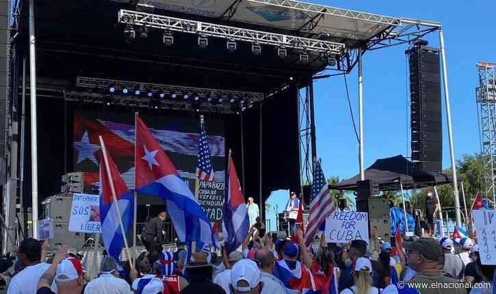 Libertad para Cuba, Nicaragua y Venezuela pidieron miles de personas en Miami