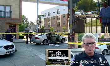 Five people shot outside funeral home Indianapolis four-year-old who is critically injured