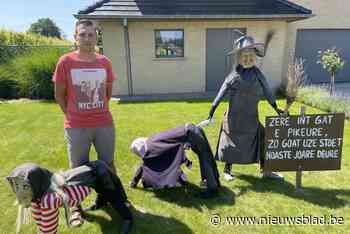 """Deze dorpsbewoners gebruiken corona voor ludieke heksentaferelen: """"Geen enkel virus krijgt ons klein"""" - Het Nieuwsblad"""