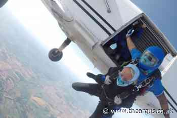 Worthing woman completes charity skydive as part of post-Covid bucket list