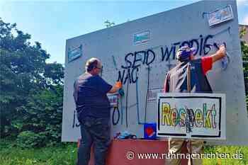 "Kunstwerk zum Thema ""Respekt"" erneut beschmiert | Dorsten - Ruhr Nachrichten"