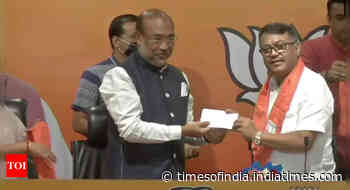 Former Manipur Congress chief joins BJP