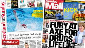 Scotland's papers: NHS pressures and drug treatment cutbacks