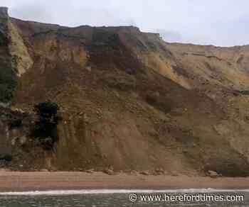 Watch: Huge section of Dorset cliff crashes onto beach