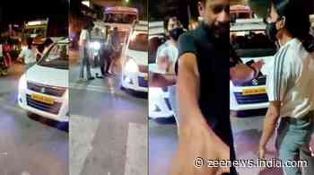 Girl thrashes taxi driver in middle of street, WATCH viral video