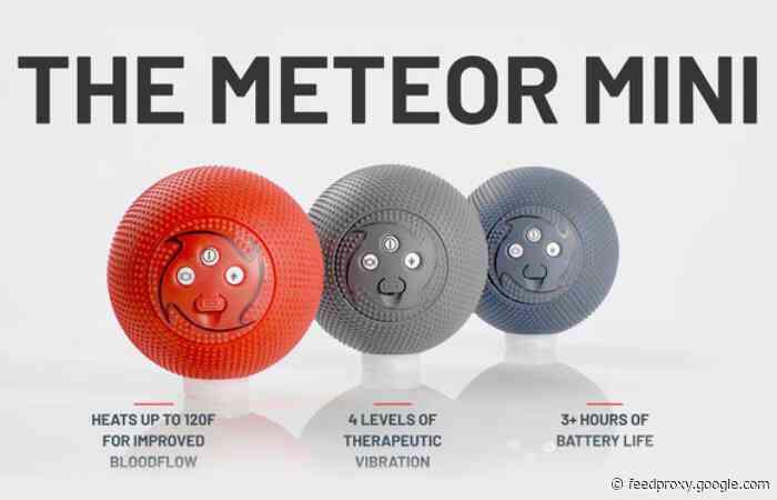 Meteor Mini massager ball provides vibration, heat and more