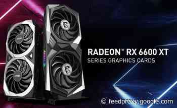 MSI Radeon RX 6600 XT Series graphics cards introduced