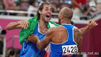 Italy's first Olympic 100m gold, shared high jump champions and a triple jump world record on wild night of athletics, as it happened