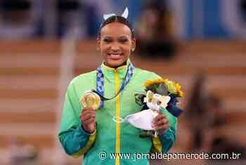 Rebeca Andrade conquista Ouro e faz história na ginástica durante as Olimpíadas - Jornal de Pomerode
