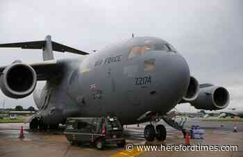 Huge RAF plane pictured circling over Herefordshire - Hereford Times