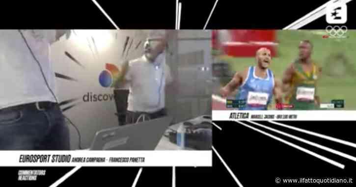 """Jacobs vince l'oro nei 100 metri alle Olimpiadi e i telecronisti di Discovery+ impazziscono di gioia: """"È la storia dello sport italiano"""""""