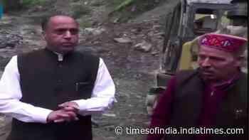 CM Jairam Thakur conducts aerial survey of flood-affected region of Lahaul-Spiti