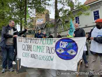 Climate campaigners hold 'greenwashing' protest in Oxford