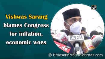 Vishwas Sarang blames Congress for inflation, economic woes