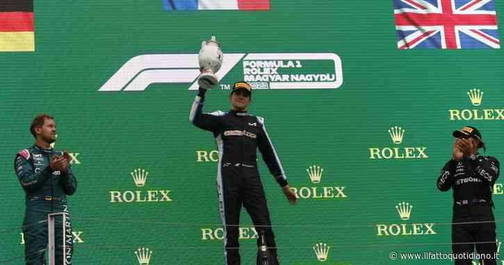 Formula 1, Ocon vince il Gp Ungheria dopo l'incidente-strike di Bottas e Stroll. Hamilton terzo ma torna in vetta al mondiale