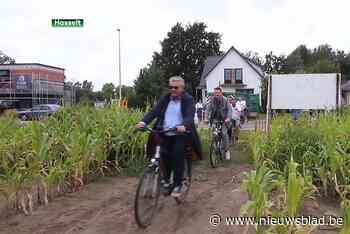 Ook in Hasselt kan je vanaf nu Fietsen door de maïs