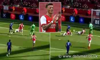 Arsenal fans delighted with new signing Ben White after goal saving block against Chelsea