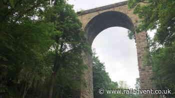 Scour protection work begins at Orbiston Viaduct in Scotland - RailAdvent - Railway News