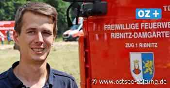 26-Jähriger war schon als Kind Fan der Feuerwehr Ribnitz-Damgarten - Ostsee Zeitung