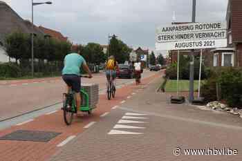 Fietsen rond rotonde in Kinrooi wordt stuk veiliger - Het Belang van Limburg