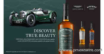 Le whisky écossais single malt Bowmore® présente la collection « Designed by Aston Martin »