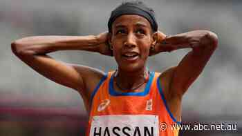 World champ Hassan falls, gets up and wins 1,500 heat in Tokyo