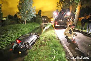 Auto raakt te water, bestuurder mee naar het politiebureau Burgerdijkseweg De Lier - district8.net