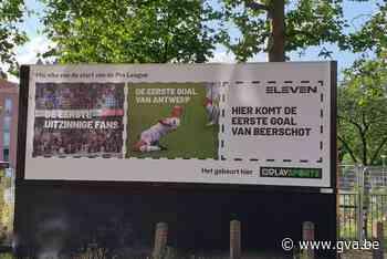Antwerpfans maken zich vrolijk over reclame die 'lacht' met Beerschot - Gazet van Antwerpen