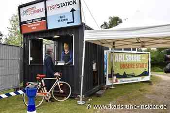 Neuer Impf-Fahrrad-Drive-In in Karlsruhe: Doch kaum einer kommt! - Karlsruhe Insider