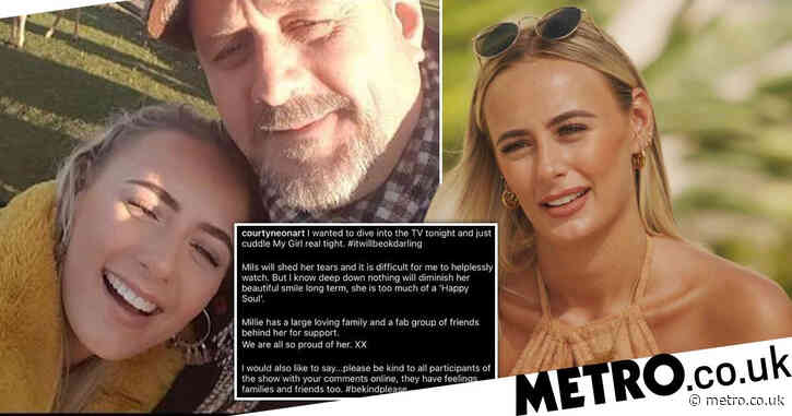 Love Island 2021: Millie Court's dad has been sharing adorable messages of support during Liam Reardon break-up