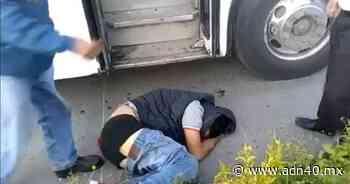 VIDEO: Pasajeros dan golpiza a presunto ladrón en Jiutepec, Morelos - ADN 40