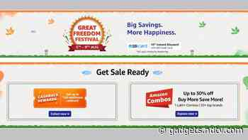 Amazon Great Freedom Festival Sale to Bring Interesting Discounts on Mobiles, Electronics, More Starting August 5