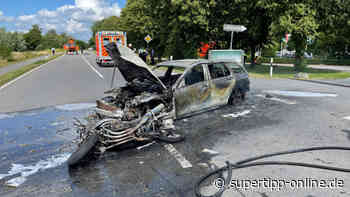 Schwerer Unfall in Mettmann: Auto und Motorrad in Flammen - Mettmann - Super Tipp