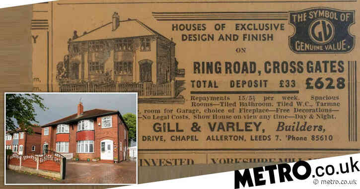 Homeowner finds 80-year-old advert for her house when it was worth just £628