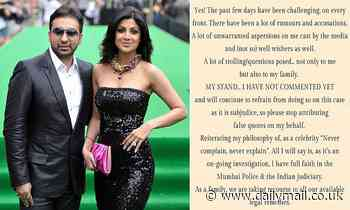 Shilpa Shetty slams 'trial by media' and says she is 'law-abiding Indian' after husband's arrest
