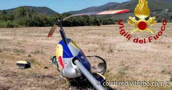 Viterbo, precipita elicottero decollato dal Lago di Bolsena. Tragedia sfiorata vicino Pisa: ferito il pilota 55enne - Corriere di Viterbo