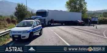 Paliano - Scontro auto-camion: chiusa la SR155 per Fiuggi - Teleuniverso
