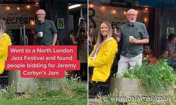 Jeremy Corbyn sells ONE pot of his homemade plum preserve for £56 at Jazz festival chairty auction