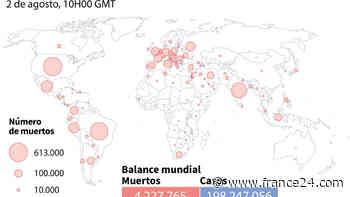 Balance mundial de la pandemia de coronavirus del 2 de agosto a las 10H00 GMT - FRANCE 24